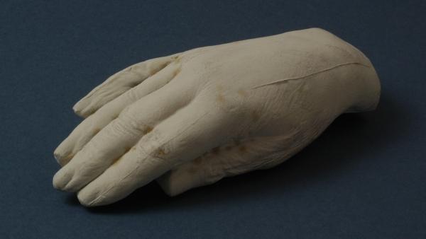 Odlitek ruky Františka Palackého (zdroj: Národní muzeum)