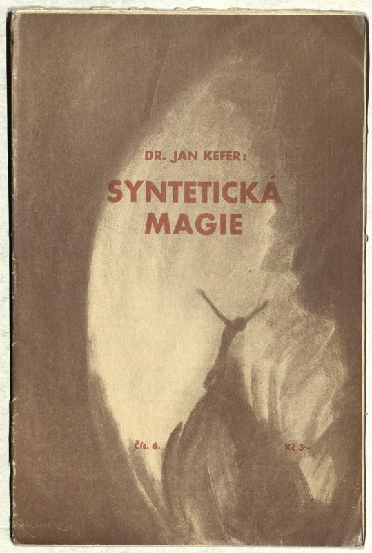 "Dr. Jan Kefer: Syntetická magie. Copybook library ""Spektrum"", Universalia – the Association of Czechoslovakian Hermetics, 1933 – 1936. Picture on the title:František Drtikol 1931"