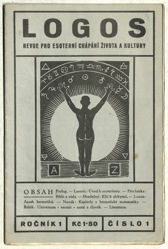 Logos, revue for esoteric perception of life and culture. Issue I., no. 1., the Association of Czechoslovakian Hermetics, 1934