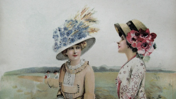 Rozkvetlé klobouky secesních dam 93fdd16a18