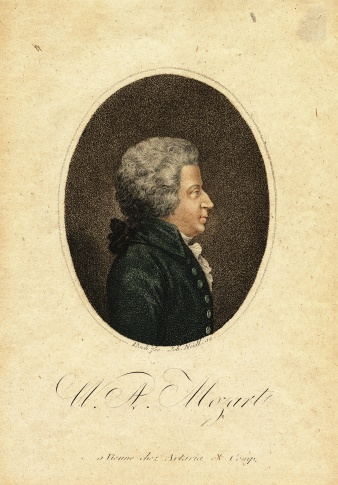 Picture. W.A. Mozart. (source: National Muzeum)